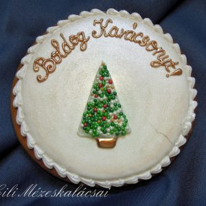 Boldog Karácsonyt! mézeskalács plakett