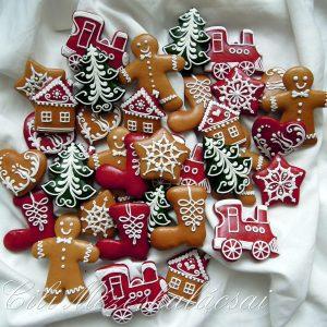 Karácsonyi vegyes apró mézeskalács