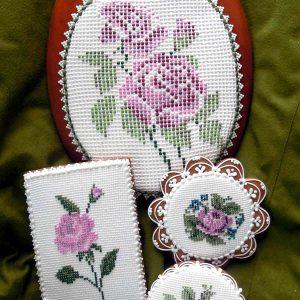 Keresztszemes színes rózsás mézeskalács kollekció