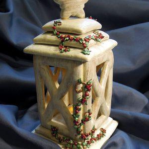 Antik fefér mézeskalács lámpás inda díszítéssel